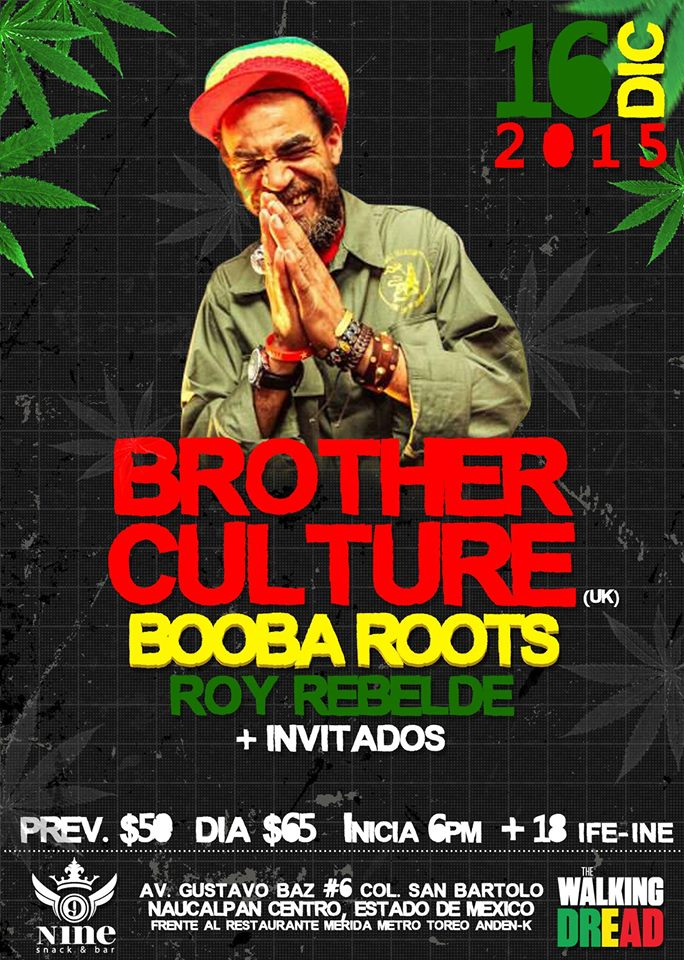Fiesta reggae con Brother Culture en Naucalpan