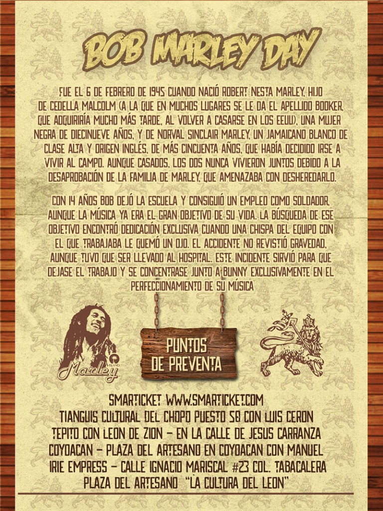 Bob Marley Day - Lion Reggae en Mexico