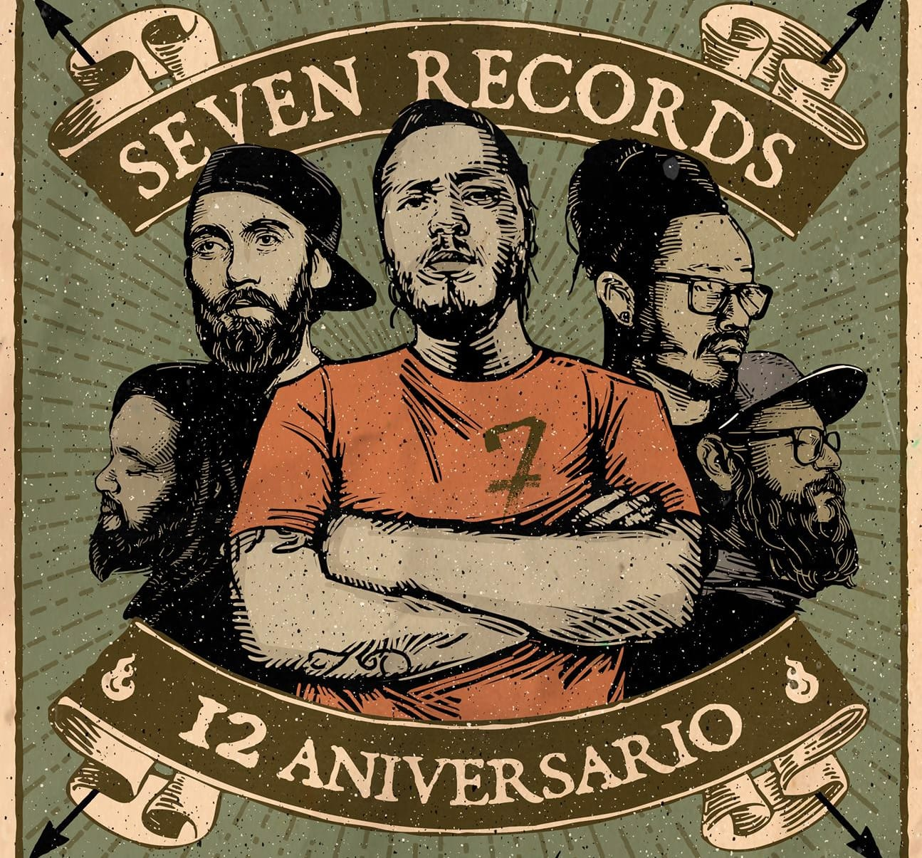 12 ANIVERSARIO 7 RECORDS MEXICO